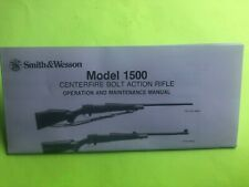 SMITH & WESSON MODEL 1500 BOLT ACTION RIFLE MANUAL