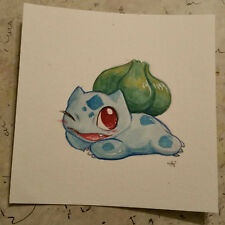 pokemon watercolor painting Cute Bulbasaur Gen 1 Draw me like one of your french