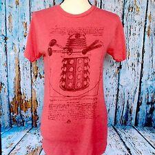 Red DOCTOR WHO Size XS BBC TV Dalek T-Shirt Vitruvian Man Robot Da Vinci Short S