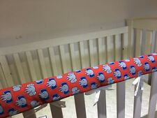 Reversible Baby Cot Crib Teething Rail Cover Protector ~ elephants