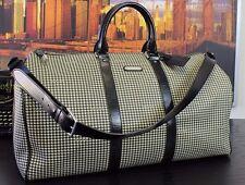 Auth POLO RALPH LAUREN RL Vtg Boston Duffle Travel Bag Leather Canvas Bag Gym XL