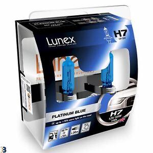 Lunex H7 Halogen Platinum Blue Max Blue Effect Headlight Car Bulbs 4700K Twin
