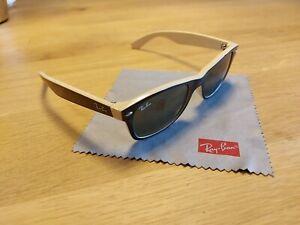 Ray ban new wayfarer rb 2132 schwarz/creme Gläser grün Sonnenbrille