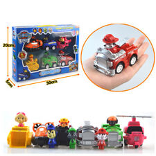 KIDS XMAS GIFT PAW PATROL COMPLETE SET 6PCS Racer Pups Characters Figures Toys