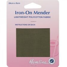 Hemline 24cm x 9cm Lightweight Polycotton Mender Fabric Patch Repair Mending