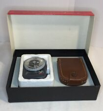 GOSSEN Super Pilot CdS Exposure Meter with Leather Case and Original Box