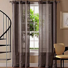 QUICKFIT SHEER EYELET CURTAIN PANEL CHOCOLATE