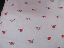 """Tommy Hilfiger Fitted Sheet -- Full -- Light Blue, Red """"H"""" with Oars"""