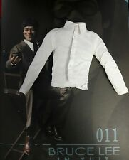 1/6 Hot Toys Bruce Lee MIS11 Long-Sleeved White Shirt *US Seller*