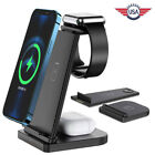 3 IN 1 Qi Wireless Charger Charging Dock Stand For Apple Watch Air Pods iPhone
