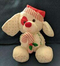 Vintage Fisher Price Puffalump Christmas Puppy Dog Plush 1990 Euc Rescue