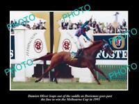 OLD 8x6 HISTORIC PHOTO OF DORIEMUS WINNING 1995 MELBOURNE CUP HORSE RACING