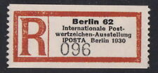 1930 NAZI Germany IPOSTA Registration Label MNH Gummed Reproduction Stamp sv