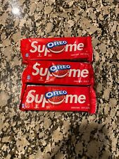 Supreme RED OREO Cookies (3 Cookies In Pack) Limited Edition - IN HAND