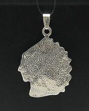 pendente argento sterling MASSICCIO 925 capo indiano TESTA NUOVA