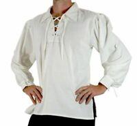 Pirate Shirt Medieval Renaissance Steampunk Costume Men Viking Tunic Shirt