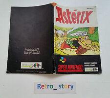Super Nintendo SNES Astérix Notice / Instruction Manual