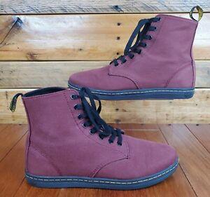 Dr. Doc Martens Alfie AW004 Maroon Red Boots Shoes Men's Size 10 EUC