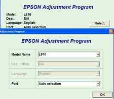 L810 Model Epson Printer Resetter