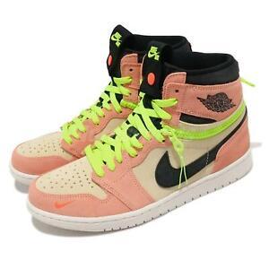 Nike Air Jordan 1 Switch Pink Volt Peach Apricot Agate Black Sail Men CW6576-800