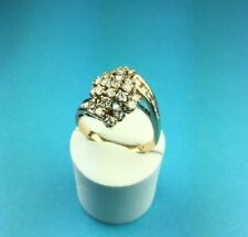 14 Kt. Yellow Gold 1 Carat Diamond Cluster Ring Size 7 1/2