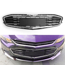 Honeycomb Mesh Chrome Front Bumper Lower Grille For Chevy Malibu 2016-17 New
