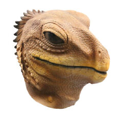 Latex Full Head Reptiles Animal Tropical Desert Lizard Cosplay Fancy Party Mask