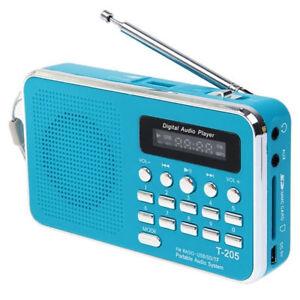 Mini Portable LCD FM Radio Speaker USB SD TF Card MP3 Music Player UK Stock