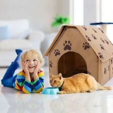 Pets Dog House Pet Bed Cozy Puppy Cave Kennel Stable Portable Cat Nest Indoor Us