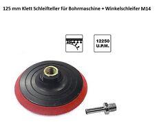 125 mm Klett Schleifteller Haftteller für Winkelschleifer M14 oder Bohrmaschine