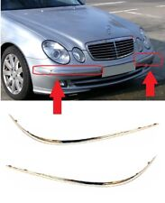 NEW MERCEDES BENZ MB E W211 03-06 FRONT BUMPER MOULDING CHROME TRIM PAIR SET R+L