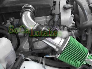 Black Green 2pc Cold Air Intake Kit & Filter For 2007-2009 Hummer H3 3.7L L5