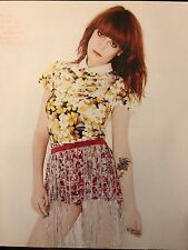 Florence Welch (Florence and the Machine) 10pg + cover NYLON feature, clippings