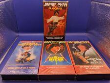 Jackie Chan Dragon Fist, Fearless Hyena, Eagle Shadow Fist, Snake Crane VHS Lot