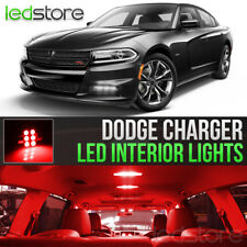 2015-2018 Dodge Charger Red Interior LED Lights Kit Package