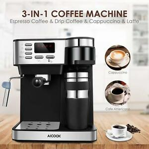 Aicook Coffee Maker Automatic Multifunction Espresso Drip And Graef 15 BAR New