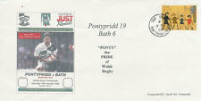 19.10.96 - Pontypridd v Bath, Heineken European Cup RUGBY COMMEMORATIVE COVER