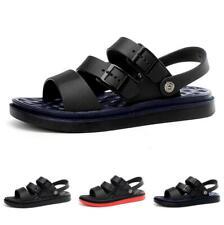 Mens Beach Sports Sandals Shoes Cut out Slingbacks Flats Non-slip Walking Casual