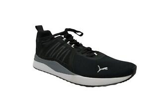 PUMA Men's Pacer Net Cage Sneakers Black White Gray Size 10.5
