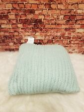 CHARTER CLUB HOME ACRYLIC CHUNK KNIT MINT GREEN DECORATIVE PILLOW 20 X 20 IN