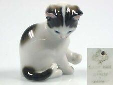Katze Katzenfigur Porzellanfigur Rosenthal  1975 porzellan figur sitz klein
