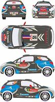 1/43 Decal Citroen DS3 R3 #51 Rally Montecarlo 2013