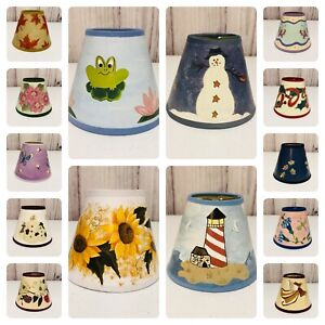 Chandelier Mini Lamp Shades Clip On - You Choose - Frog Snowman Bear Sunflower