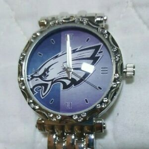 Philadelphia Eagles Women's NFL Luxury Stainless Steel Watch - (RARE) NEW