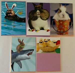 NEW RECYCLED PAPER GREETINGS LOT OF 5 EASTER CARDS $15.45 VALUE BY PAPYRUS