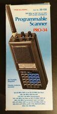 Radio Shack Realistic PRO-34 Programmable Scanner w/ Box SEE DESCRIPTION Works