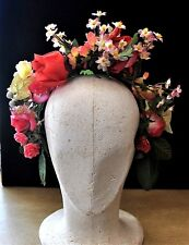 Vintage Pink Flower Crown, Party, Wedding, Races, Formal, BoHo, Festival