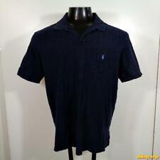 POLO by Ralph Lauren S/S Classic Polo Shirt Mens Size L Blue cotton/linen