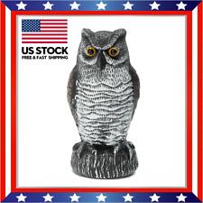 New ListingScarecrow Fake Owl Decoy Statue Weed & Pest Control Bird Crow Scarer Garden Yard