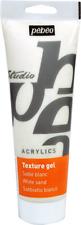 Pebeo 525032 Studio Acrylics Auxiliaries, Sand Texture Gel, 250 ml - White